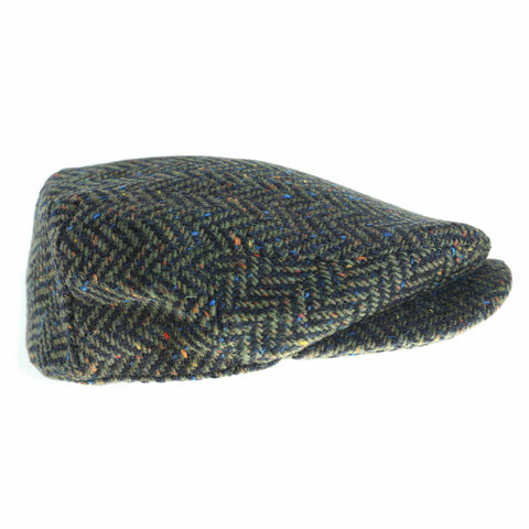 Wool Driving Cap Extended Brim Killarney Tweed Made in Ireland