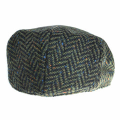 Irish Tweed Cap Made in Ireland Flat Cap with Curved Peak Style Snap Brim Slim Look Herringbone or Fleck Patterns Donegal Tweed Made by Hatman of Ireland