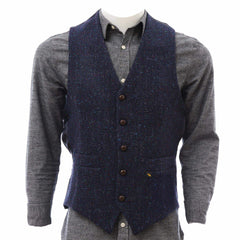Donegal Tweed Vest for Men Herringbone Fleck Made in Ireland