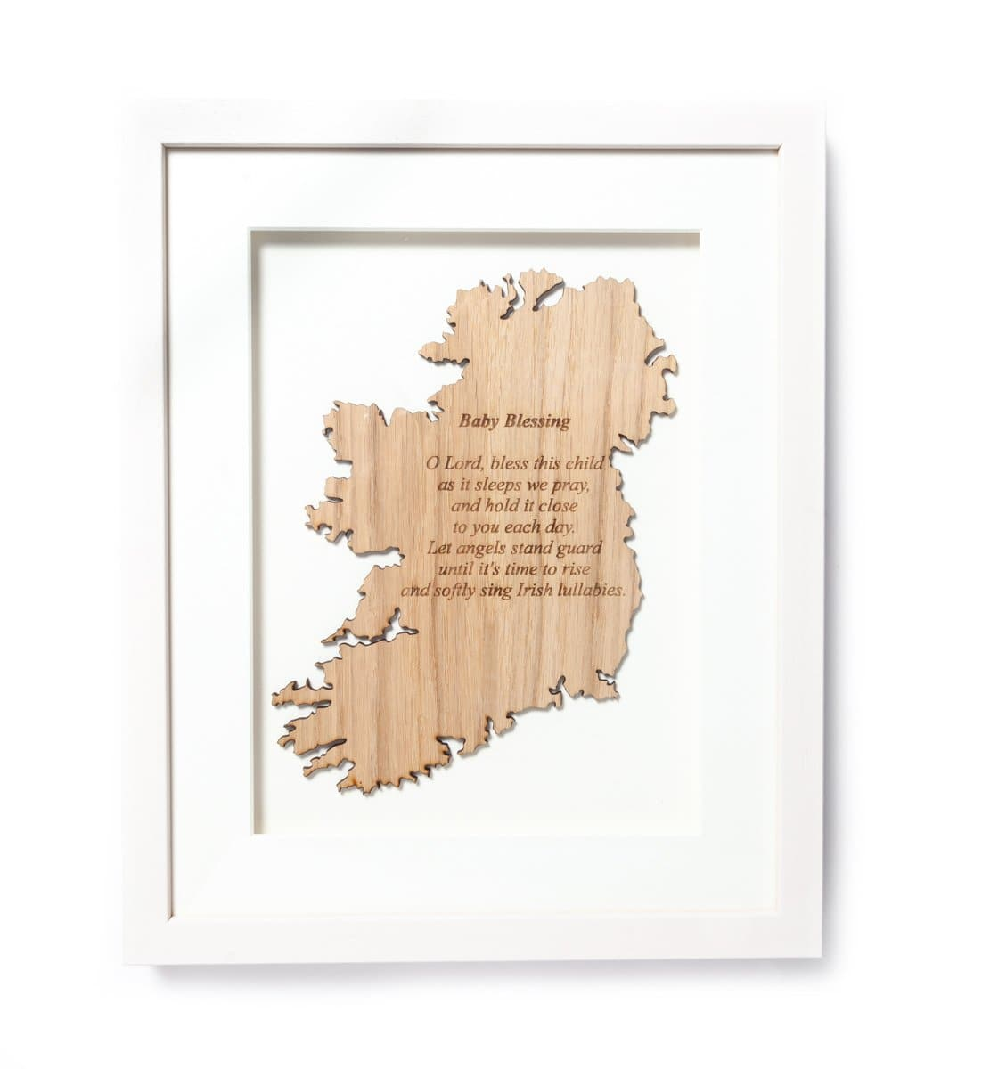 Irish Baby Blessing Wall Decor Made In Ireland Sustainable Irish Wood Large Framed Plaque Irish Blessing Made in Co. Meath by Caulfield Country Boards