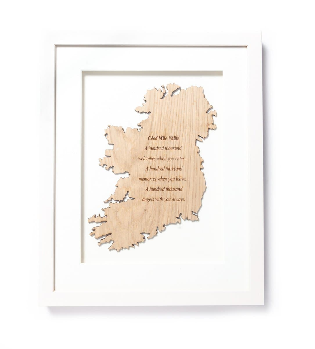 Cead Mile Failte Framed Wall Decor Made in Ireland Traditional Irish Welcome Irish Greeting Unique Gift Crafted in Co. Meath