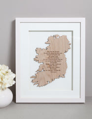 Danny Boy Framed Wall Decor Made in Ireland Irish Song Oh Danny Boy Unique Gift Crafted in Co. Meath by Maker-Partner Caulfield Country Boards