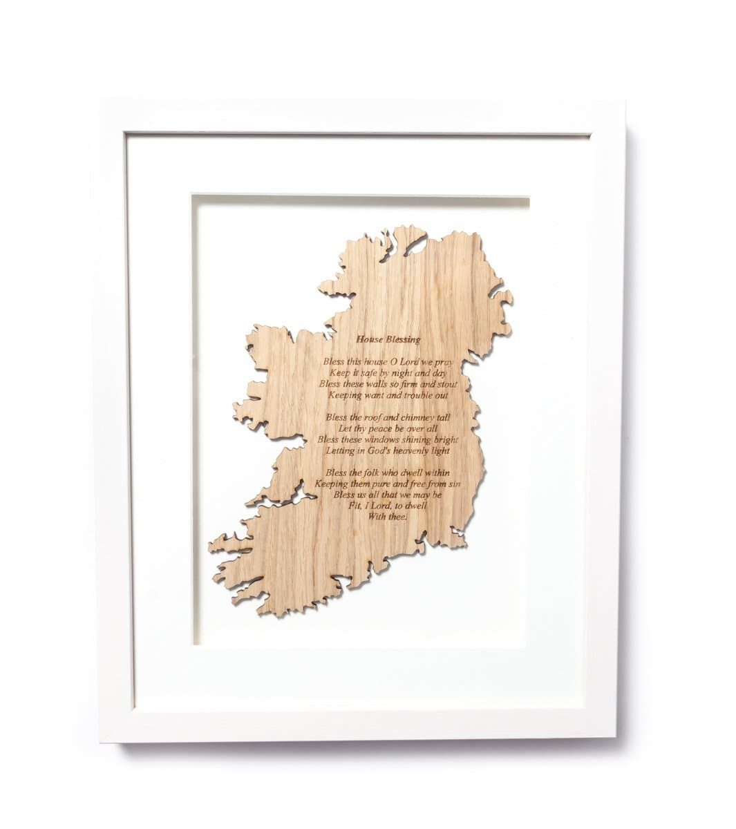 Irish House Blessing Framed Wall Decor Made in Ireland Bless This House Irish Blessing Unique Gift Crafted in Co. Meath