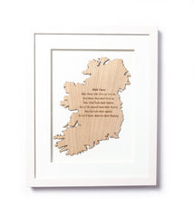 Irish Curse Framed Wall Decor Made In Ireland Irish Wall Decor Humorous Wall Hanging Unique Gift Crafted in Co. Meath by Caulfield Country Boards