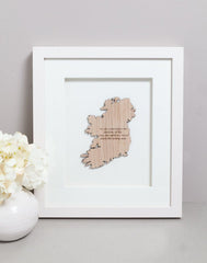 Good Luck Toast Good Luck Saying Wall Decor Made In Ireland Irish Humor Wall Hanging Unique Gift Crafted in Co. Meath by Caulfield Country Boards