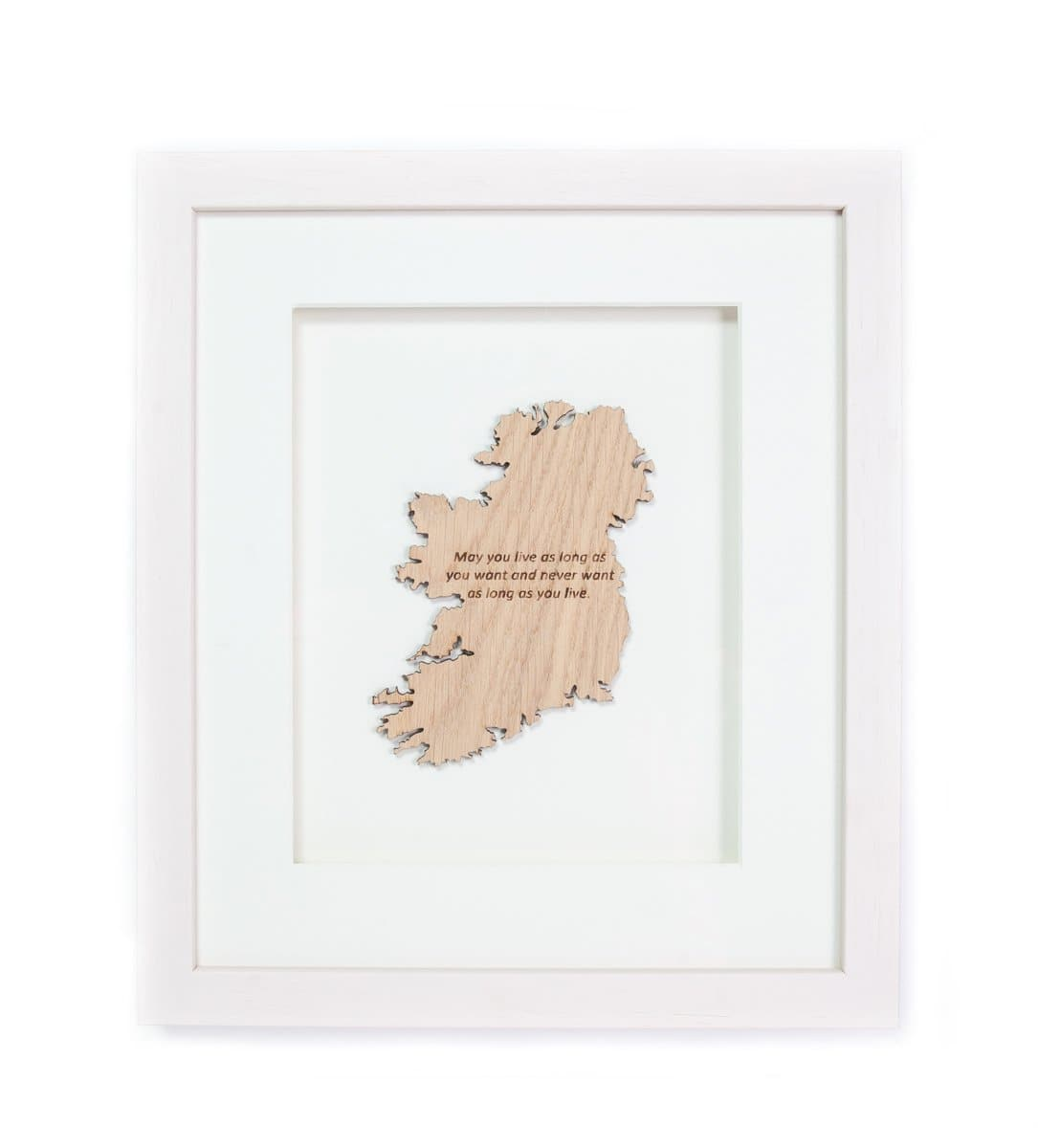 Irish Blessing Live Long Irish Toast Made In Ireland Framed Matted Wall Hanging Irish Saying Unique Gift Crafted in Co. Meath by Caulfield Country Boards