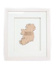 Luck of the Irish Wall Hanging Irish Toast Etched Onto Sustainable Irish Wood Made In Ireland Irish Blessing Framed Matted Decor Crafted in Co. Meath by Caulfield Country Boards
