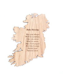 Irish Baby Blessing Plaque Made in Ireland May You Always Walk In Sunshine Baby Blessing Unique Gift Crafted in Co. Meath