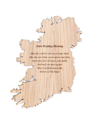 Irish Wedding Irish Blessing Plaque Made in Ireland May the Wind Be At Your Back Unique Gift Crafted in Co. Meath