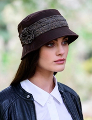 Women's Bucket Hat Waxed Cotton Made in Ireland Wax Caps Waterproof Hats for Women Weather Resistant Rain Hat Fashionable Waxed Cotton Rain Hat Made in Co. Kerry, Ireland