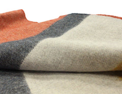 Irish Blankets Merino Wool Standard Throw Blocks of Color Breathable Made in Ireland