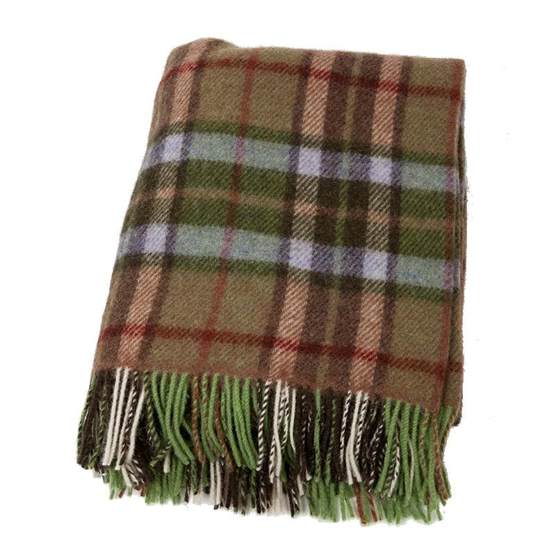 "58"" x 45"" 100% Lambswool Small Throw Blanket Soft Woven by John Hanly & Company in Co. Tipperary, Ireland"