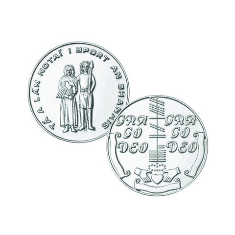 Wedding Token Coin Sterling Silver Made in Ireland