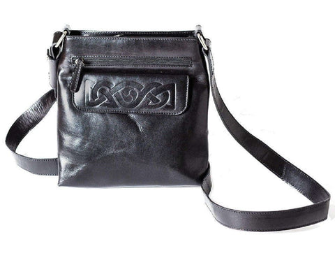42faa3db40c5 ... Bags for Women Celtic Embossed Leather Irish Made. Black