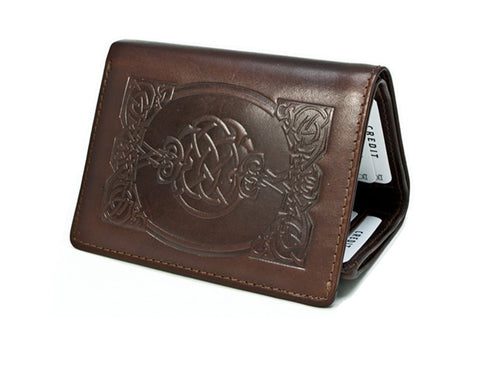 New Celtic Wallet Genuine Leather Tri-Fold Made in Ireland Lee River Leather