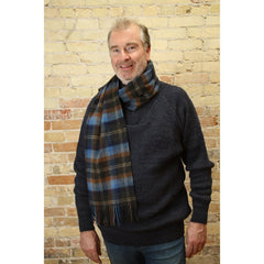 Standard Length Irish Scarf Woven with 100% New Lambswool and Nylon, Crafted by our Maker-Partners at John Hanly & Company in Co. Tipperary, Ireland