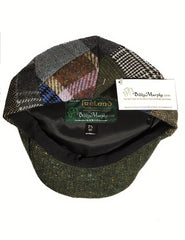 Irish Tweed Cap Patchwork Flat Cap Vintage Design Fuller Fit Single Seam Sits Lower on Head 100% Irish Wool Made in Co. Tipperary Ireland