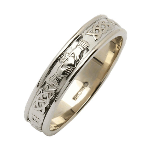 edc862d7457 Mens Claddagh Wedding Ring Band Sterling Silver. 2. Sale. Silver