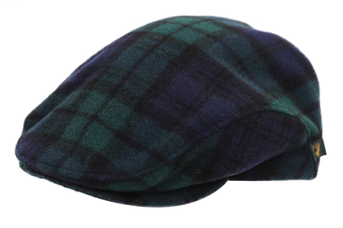 Blackwatch Flat Cap Genuine Tweed Durable Designed in Ireland
