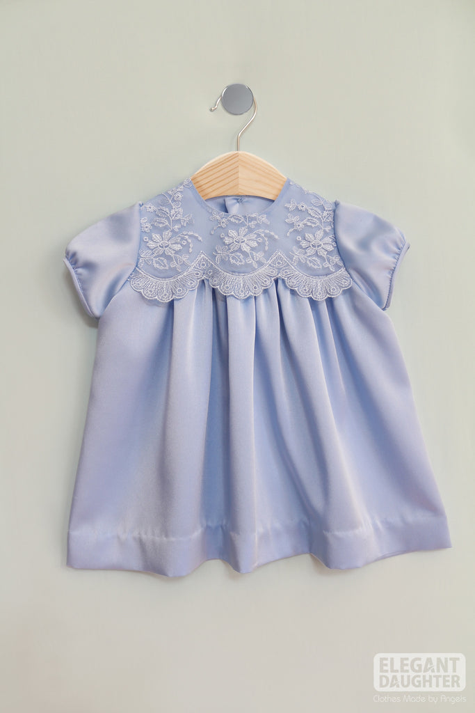 Blue Silk Dress- Baby Dress