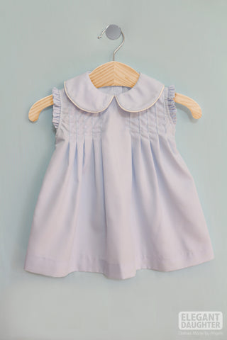 Pleated Sky Blue Dress
