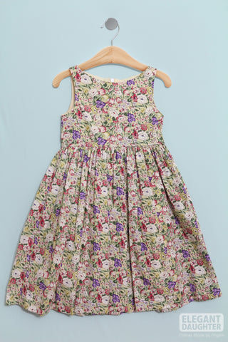 Colorful Flower Printed Dress_ Toddler Girl Dress