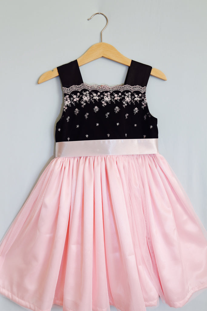 Pink & Black  Princes Girl Dress