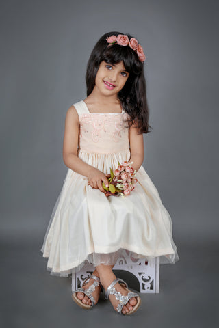Light Peach Flower Dress