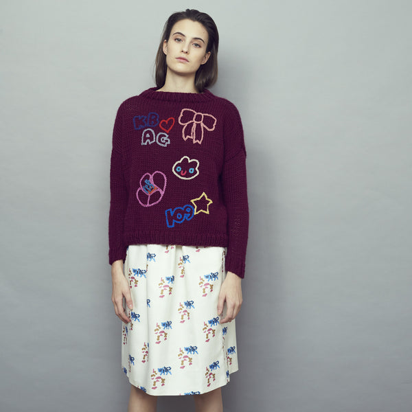 Ella Jumper Bordeaux