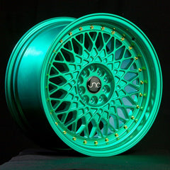JNC031 Candy Green Gold Rivets
