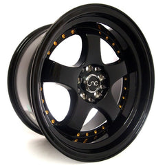 JNC017 Gloss Black w/ Gold Rivets