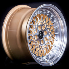 JNC031 Gold Machined Face Chrome Rivets