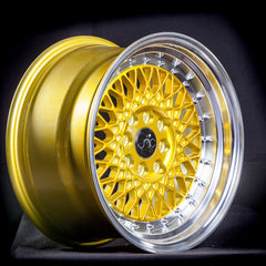 JNC031 Candy Gold Machined Lip Chrome Rivets