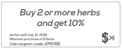Buy 2 or more herbs  and get 10%