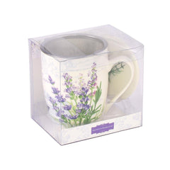 Tea Herb Mug Cup with Infuser and Lid 12fl oz - Lavender | Biokoma.com