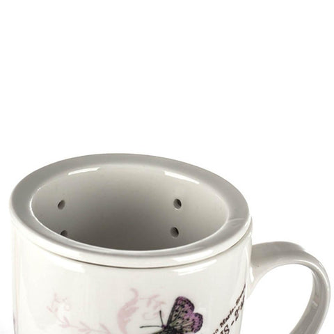 Tea Herb Mug Cup with Infuser and Lid 12fl oz - Lilac | Biokoma.com
