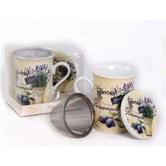 Tea Herb Mug Cup with Infuser and Lid 9.5fl oz - Lavender | Biokoma.com