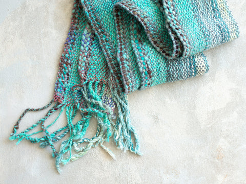 Shop Sea Foam Delight Handwoven Scarf