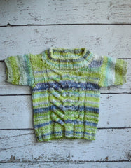 Stacked Stag-Horn Baby Sweater from Stacey Cilia