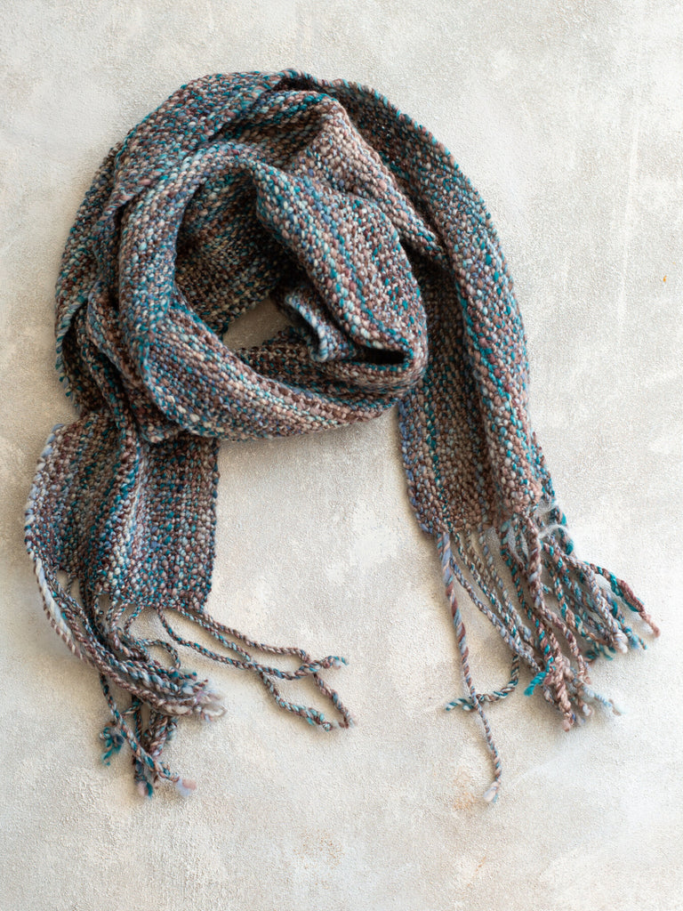 'Smoke on the Water' Handwoven Scarf