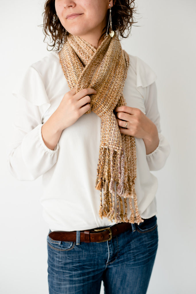 'Metals of Antiquity' Handwoven Scarf