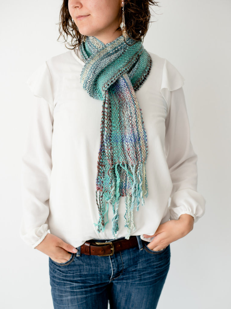 'Sea Foam Delight ' Handwoven Scarf