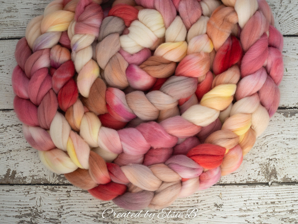 Organic Polwarth * 'Dancing Tulips' 4 oz