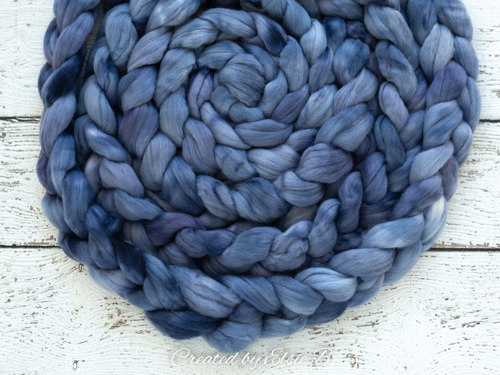 Organic Merino/ Cashmere 'Crystal Freeze' 4 oz