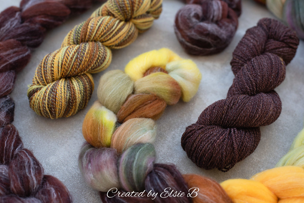 November's Colorway: Targhee/Bamboo/Silk 'Sunflower Fields' 4 oz - EXPECTED TO SHIP 12/11