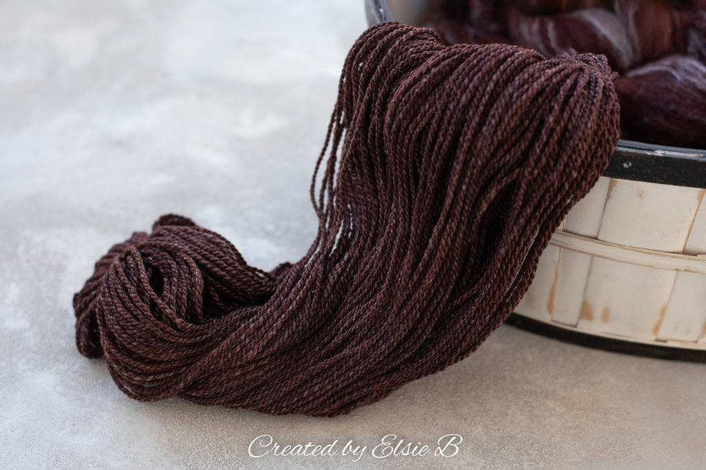 November's Semi-Solid: Targhee/Bamboo/Silk 'Gingerbread' 4 oz - EXPECTED TO SHIP 12/11