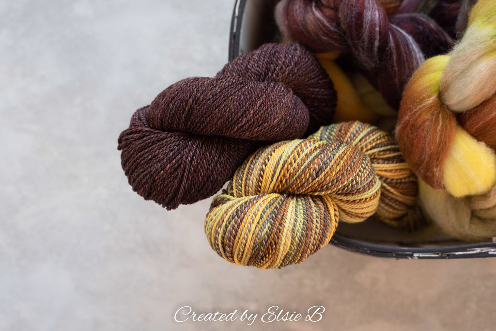 Targhee/Bamboo/Silk 'Gingerbread' 4 oz