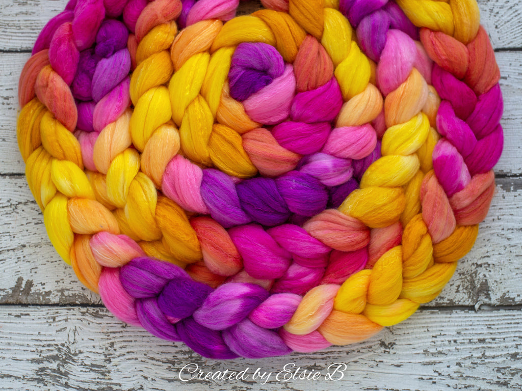 Organic Polwarth/ Silk 'Snapdragons' 4oz