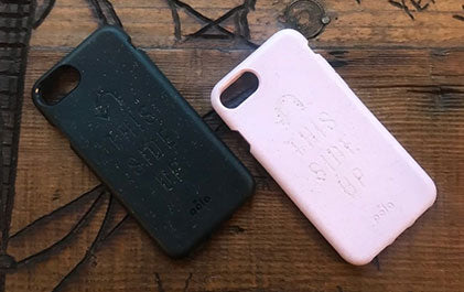 The Side Up: Pela iPhone Case message