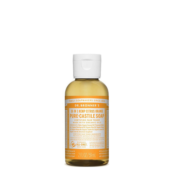 DR BRONNER PURE CASTILE LIQUID SOAP TRAVEL CITRUS